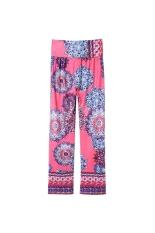 Stylish Mid-Waisted Printed Wide Leg Women's Exumas Pants (Intl) TC