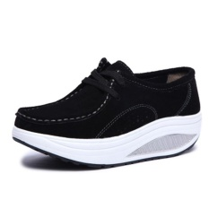 Suede Shake Shoes Ladies Fashion Movement Casual Shoes - intl