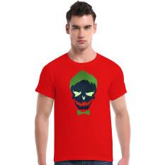 Suicide Squad Joker Cotton Soft Men Short T-Shirt (Red) - Intl