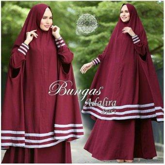 Suki Dress Muslim Adalira Syari'I - Maroon
