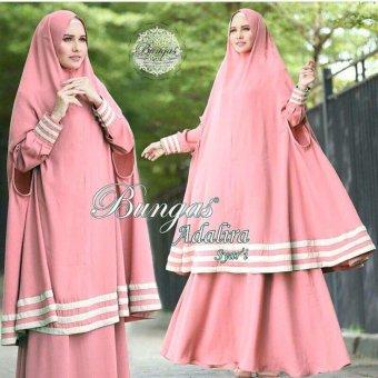 Suki Dress Muslim Adalira Syari'I - Pink DW