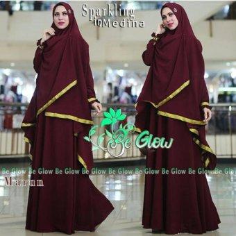 Suki Dress Muslim Inmedina Syari'I - Maroon