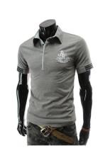 Summer Fashion Men Letter Printing T-shirt (Grey) (Intl)