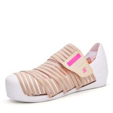 Summer Fashion Women Casual Shoes Rattan Weaving Women Platform Shoes (Khaki) - Intl
