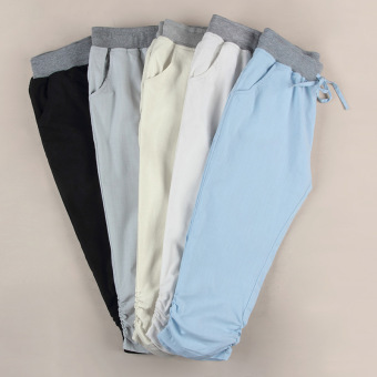 Summer Han Edition Cotton and Flax 7 Minutes of Pants Haroun Pants of Cultivate One's Morality