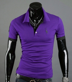 Summer Multi-color Printing Deer Fashion Men's Short Sleeved T-shirt POLO Shirt