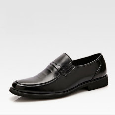 Summer New Men's Business Casual Leather Shoes (Black)