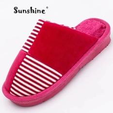 Sunshine 2017 New Winter Warm Cotton Shoes Women's Home Cotton Shoes Kasut Wanita Kasut (Red) - intl