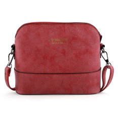 Sunweb New Women Ladies Synthetic Leather Messenger Bag Zipper Closure Casual Party Small Shoulder Bag (Red) - Intl