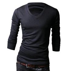 Sunwonder Long Sleeve Men Slim T-shirts Tee Tops (Coffee)