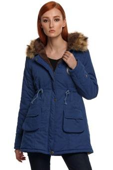 b465d4ebdeb9 SuperCart ANGVNS Women Winter Thicken Warm Hooded Packable Down Jacket Coat  ( Dark Blue )