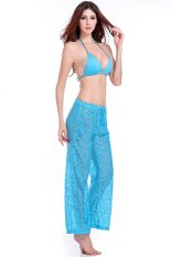 SuperCart Casual Lace Breathable Beach Long Pants (Blue) (Intl)