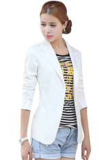 SuperCart European Style OL Wear To Work Stylish Suit Jacket Coat (White) (Intl)