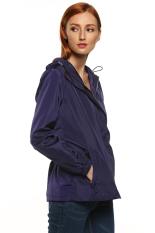 SuperCart Meaneor Women Outdoor Casual Long Sleeve Hooded Waterproof Windbreak Jacket Tops (Purple) (Intl)