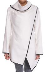 SuperCart Stylish Women's Long Sleeve Warm Thickening Casual Jacket Coat Overcoat (White) (Intl)