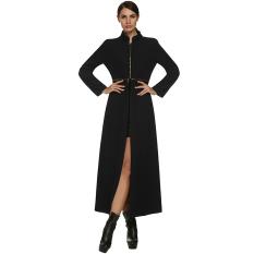 Supercart Zeagoo Cool Ladies Women Autumn Winter Multi Wear Method Woolen Coat (Black) - Intl