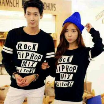 Sweater Couple H~Shico HIP~HOP ( Hitam )