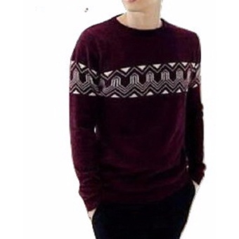 Sweater Pria Rajut - Anthony Maroon - Rajut Tribal