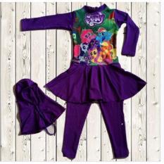 Swimsuit Baju Renang Anak Perempuan Muslimah Poeny Purple