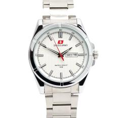 Swiss Army Men's Jam Tangan Pria - Silver - Stainless Steel Back - SA 4150 M