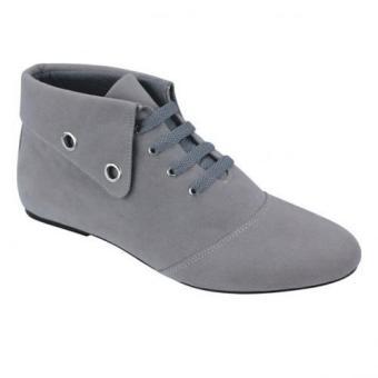 Syaqinah Sepatu Boots Wanita - Abu-abu