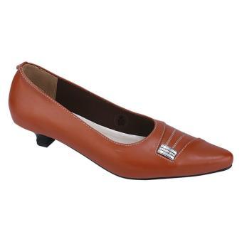 Syaqinah Sepatu Heels Wanita - Coklat