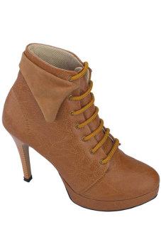 Syaqinah Sepatu High Heels Wanita - Tan
