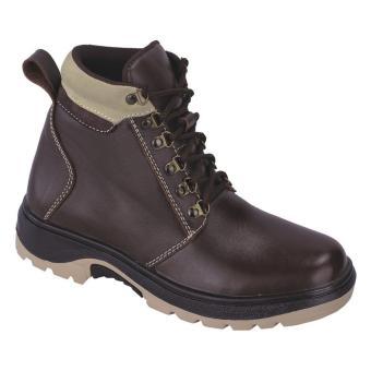 Syaqinah Sepatu Kulit Adventure Pria - Coklat