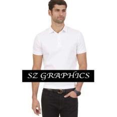 Sz Graphics / Polo Shirt / T Shirt Polo Pria / Kaos Polo Pria / T Shirt Fashion Pria / T Shirt Polo Pria Kaos Polo Pria -Putih