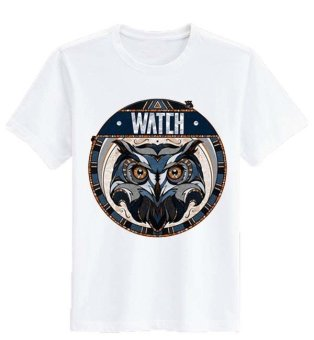 Sz Graphics Watch T Shirt Wanita Kaos Wanita T Shirt Fashion Wanita T Shirt Kaos Distro Wanita-Putih