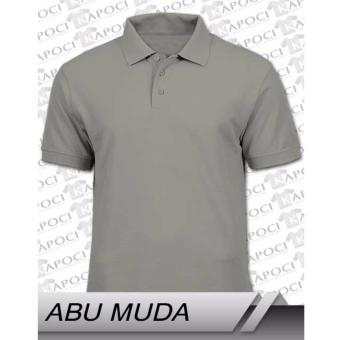 T-Shirt / Kaos Polo Shirt Pria - Abu Muda