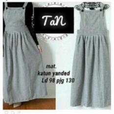 tan overall katun fit to L besar