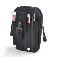 Tas Pinggang Pria Army Tactical Molle Waist Small Bag Military - Black