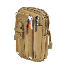 Tas Pinggang Pria Army Tactical Molle Waist Small Bag Military - Coklat Muda