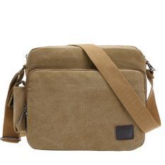 Tas Pria 6661 Men Messenger Shoulder Outdoor Travel Bag - Khakis