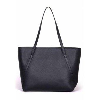 Tas Wanita Women Fashion PU Tote Leather Handbags Shoulder ...