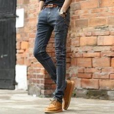 Ten.F 2017 New Spring And Autumn New Men's Jeans, Korean Slim Waist Straight Men's Trousers, Tide Men's Elastic Feet Pants - Intl
