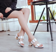 The new women's cool slippers thick with high-heeled sexy women's sandals - intl