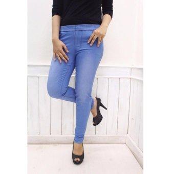 THREESIXTY Celana jogger // jogger jeans // jogger wanita - biru muda