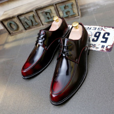 Tidog Men Wingtip Shoes Stylist England Small Leather Shoes Individuality Tide Restoring Ancient Men Wedding Shoes