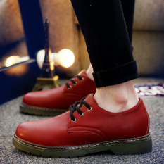 Tidog New England Bullock Shoes Shoes Leather Shoes To Trend Of Korean Shoes - Intl