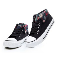 Tongluren S9132 Black Casual Women's Canvas Shoes Comfortable Breathable Elevator Shoes Sneakers (Intl)