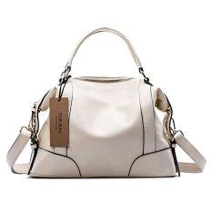 TOP-BAG Lovely Women Ladies' Genuine Leather Tote Bag Handbag Shoulder Bag, SF1006 (Creamy White) (Intl)