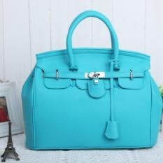 Top-Handle Bags Fashion Super Star Handbag Women Shoulder Handbags Bags Ladies Messenger PU Leather Bag (Blue)