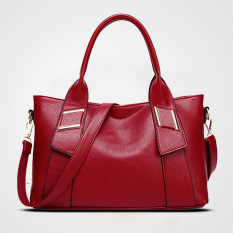 Top-Handle Bags Soft PU Women Bag Ladies Leather Handbags Tote Purse Women Handbag Sac Femme Designer Handbags High Quality (Red) - Intl