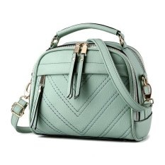 Top RateFashion Elegant And Cute Style Women's PU Leather Top Handle Satchel Handbag Korea Style Crossbody Bag Shoulder Purse (Light Green) - Intl