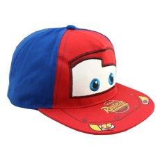 Topi Anak Snapback Cars Mc Queen Kids Cap - Biru Merah