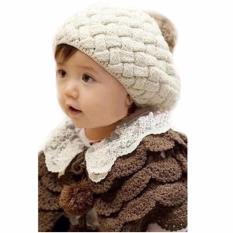 Topi Bayi Nanas - Beige / Cream / Pineapple Hat BeigeTopi Anak Rajut Kupluk Korea Baby Talk - Pineapple Hat - Topi Rajut Motif Nanas Untuk Bayi Balita dan Anak Lucu Import