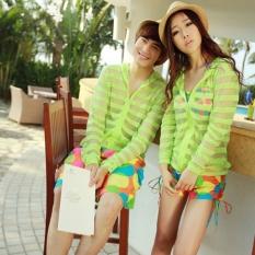 Toprank Fashion Summer Beach Couple Man Women (Fluorescent Green) - Intl