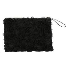 Toprank Korea Stylish Casual Women's Lace Rose Pattern Clutch Handbag - Intl
